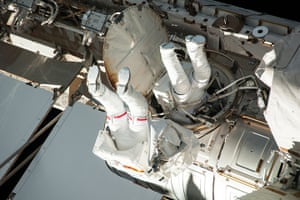 A Month in Space: Space walk