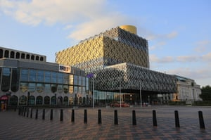 Birmingham Library: A view of the new Library of Birmingham Nest to Birmingham Rep