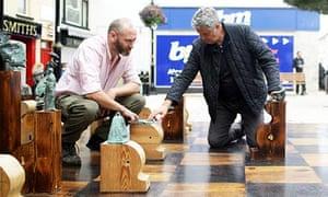 alan Milligan's Beckett chess set, built for the Beckett festival in Enniskillen