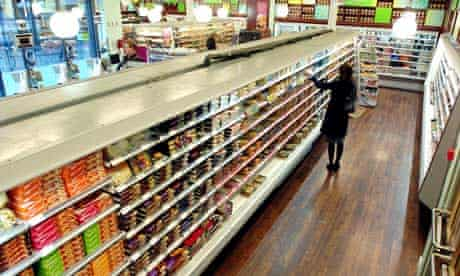 Shelves of chilled food and ready meals