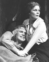 Gerard Murphy and Judi Dench in Juno and the Paycock, 1980