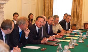 David Cameron chairs No 10 meeting 28 August