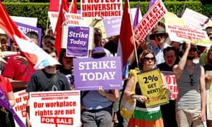 sydney university strike