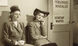 Women wait for interview