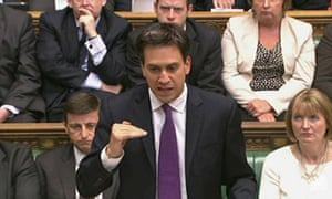 A video grab from footage broadcast by the UK Parliaments Parliamentary Recording Unit via Parliament TV on 29 August, 2013 shows leader of the opposition Ed Miliband speaking in the House of Commons during the parliamentary debate about a response to the situation in Syria