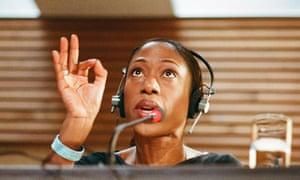 Nikki Amuka-Bird as Interpreter