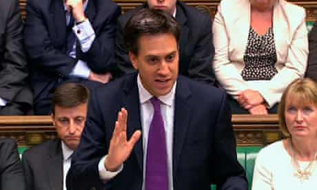 Ed Miliband in Commons