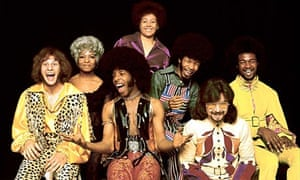 The Family: Errico, Rose, Sly, Cynthia Robinson,  Freddie Stone, Jerry Martini and Larry Graham.