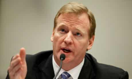 FILE - AUGUST 29: The NFL agreed to settle a lawsuit for $765 million on August 29, 2013 brought by more than 4,500 former players and families of others who have died. The plaintiffs claim their dementia and other health issues resulted from head trauma that occurred while playing in the NFL. WASHINGTON - OCTOBER 28:  National Football League Commissioner Roger Goodell testifies with others before the House Judiciary Committee about football brain injuries on Capitol Hill October 28, 2009 in Washington, DC. A recent NFL study of retired players suggested that N.F.L. retirees ages 60 to 89 are experiencing moderate to severe dementia at several times the national rate.  (Photo by Chip Somodevilla/Getty Images) Brain Sport Horizontal American Football USA Washington DC Law Politics Physical Injury Capitol Hill Government Capital Cities Testimony NFL House Judiciary Committee Roger Goodell