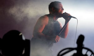 Trent Reznor of Nine Inch Nails performs at Lollapalooza 2013, at Grant Park in Chicago