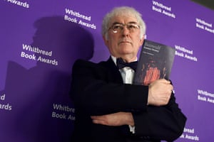 Seamus Heaney: Seamus Heaney with his winning book, Beowulf at the Whitbread Book of the Y