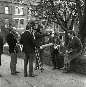 Seamus Heaney: Seamus Heaney being interviewed on the television program Aquarius, 1970