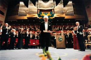Seamus Heaney: Seamus Heaney, receives his Nobel Prize for literature