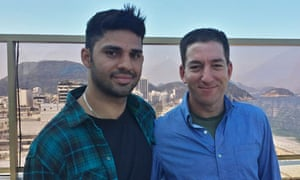 David Miranda and Glenn Greenwald