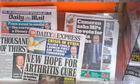 The ABC reports that national daily print sales are down by up to 16% –but online readership rose b