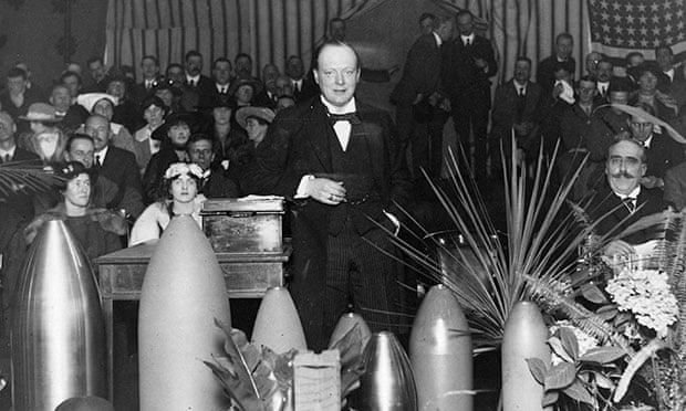 Winston Churchill en la época de la Guerra 1914-1918