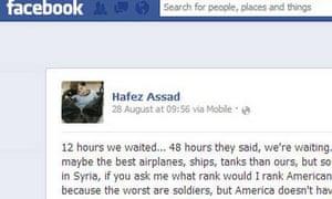 Hafez al-Assad Facebook