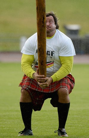 The Annual Cowal Highland Games: tossing the caber