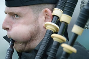 The Annual Cowal Highland Games: bagpiper