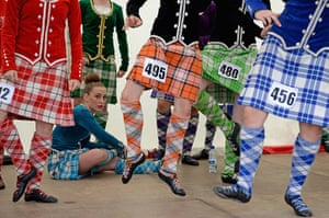The Annual Cowal Highland Games: dancers practice