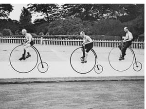 Penny farthing race 1937 - a picture from the past
