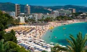 It is estimated 1million British tourists visit Magaluf each year.