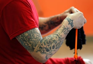 Prison knitting: She trained 18 prisoners sentenced for crimes ranging from armed robbery to