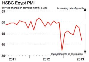 Egypt PMI. July 2013