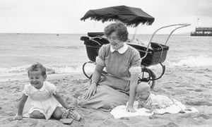 Nanny on beach