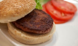Lab-grown beef hamburger