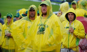 Dejected Australian fans known as 'Fanatics' during the rain delayed test match in Manchester.