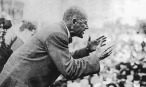 American socialist leader Eugene Debs, speaking to a crowd in 1910