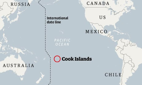 Cook Islands On World Map.Seabed Mining Could Earn Cook Islands Tens Of Billions Of Dollars