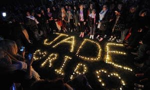 Candle light vigil for Jade Anderson