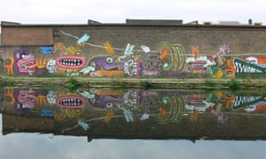 Dirty Laundry, by the Burning Candy Crew, used to adorn a stretch of wall opposite the Olympic site in Hackney Wick