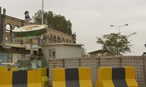 The closed US embassy on 4 August, 2013 in Sana'a, Yemen.