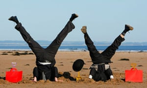handstands on beach