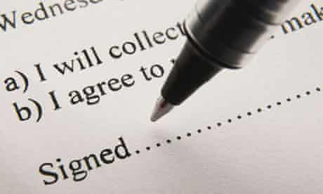 A pen poised to sign on the dotted line