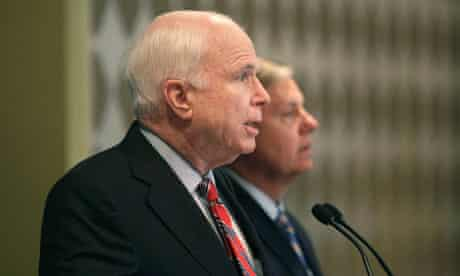 US senators John McCain and Lindsey Graham