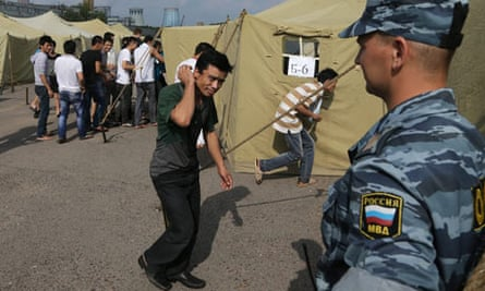 Immigration detention camp in Moscow