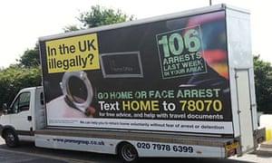 Home Office 'Go home' van
