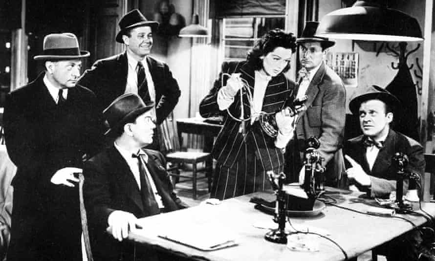 Still from the film His Girl Friday directed by Howard Hawks and starring Rosalind Russell.