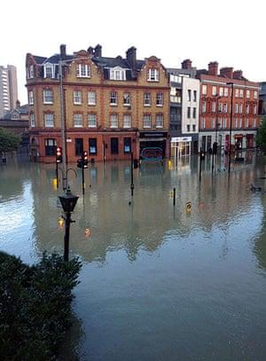 Herne Hill flood: Flooded high street
