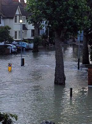 Herne Hill flood: Flooded side street
