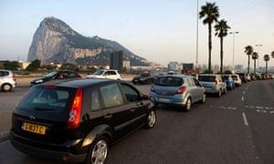 Gibraltar cars queue