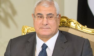 Adly Mansour, interim president of Egypt, has blamed the Muslim Brotherhood for the talks' collapse