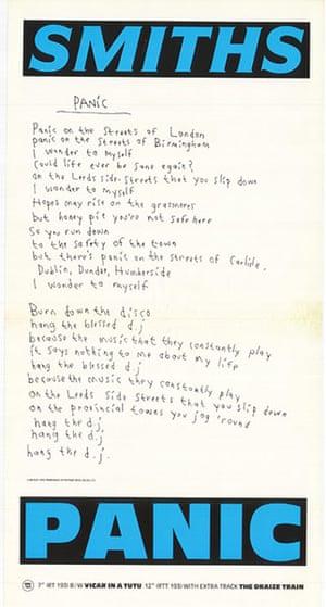 "The Smiths : Panic ""B"" (July 1986)"