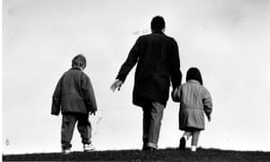 Father and two children