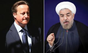 David Cameron and Hassan Rouhani