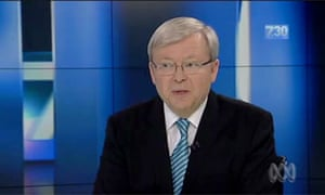 Kevin Rudd on 7:30